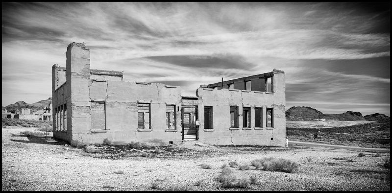 The school in Rhyolite, Nevada.