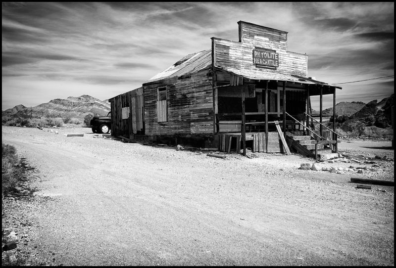 The mercantile in Rhyolite, Nevada.