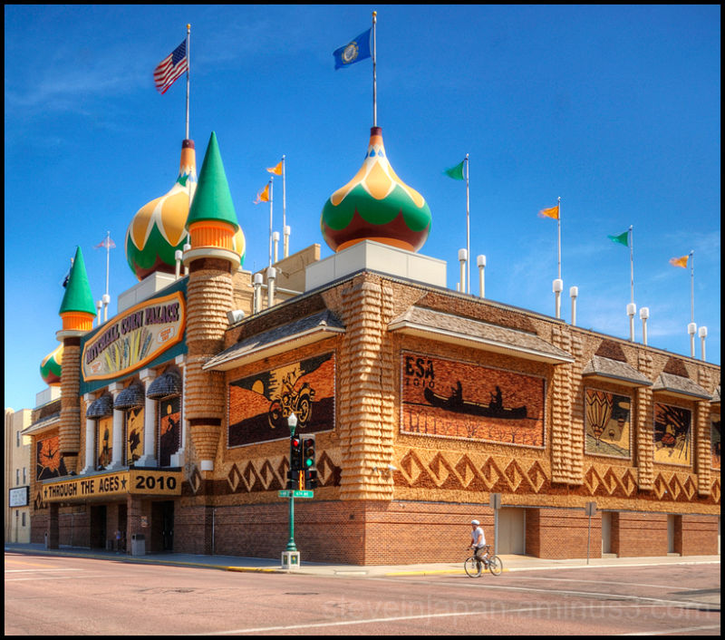 The Corn Palace in Mitchell, South Dakota.