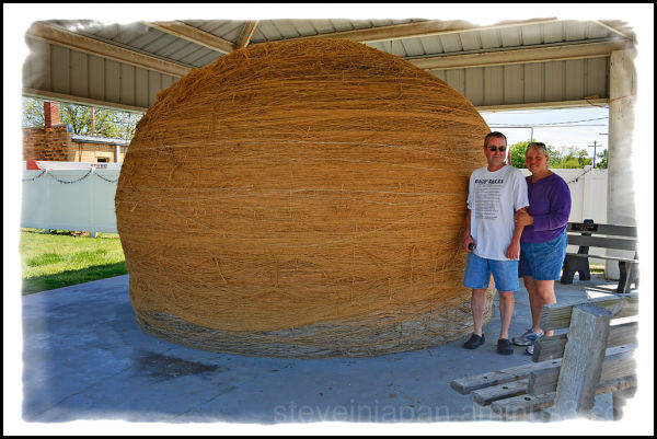 The world's biggest ball of twine in Kansas.