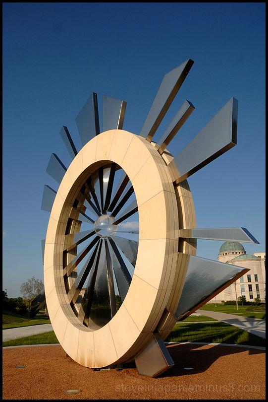 A sculpture near the Iowa Supreme Court.