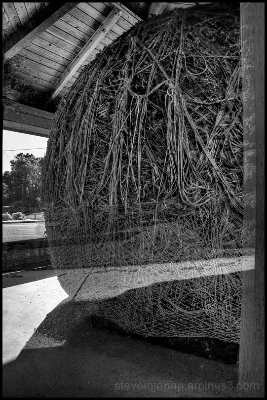 The world's biggest ball of twine in Minnesota.