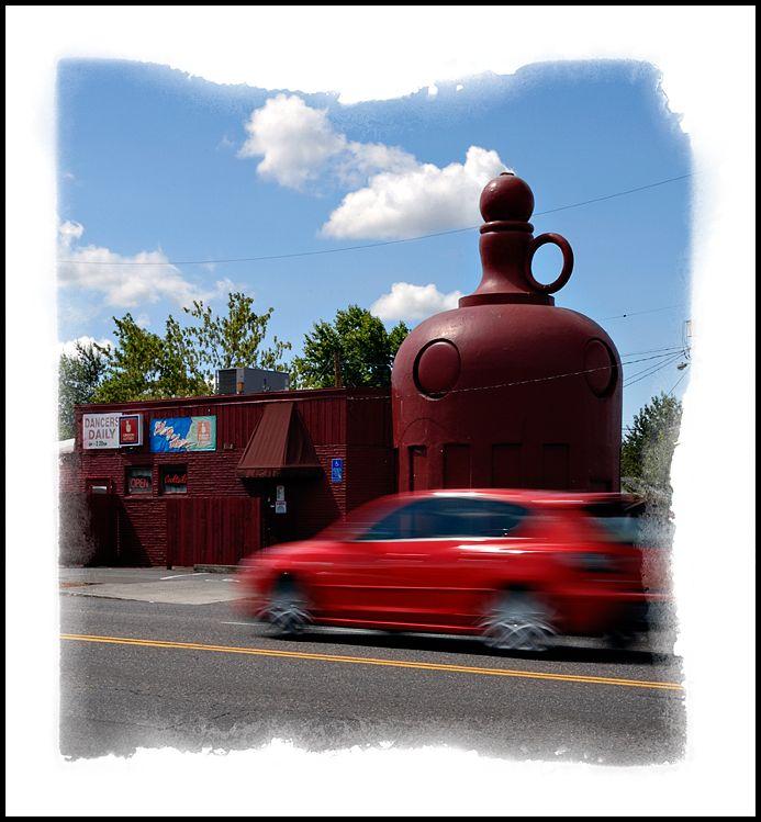 The Red Jug in Portland Oregon.