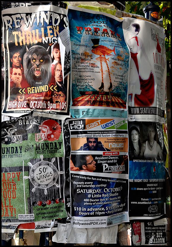 Posters in the Fremont District.