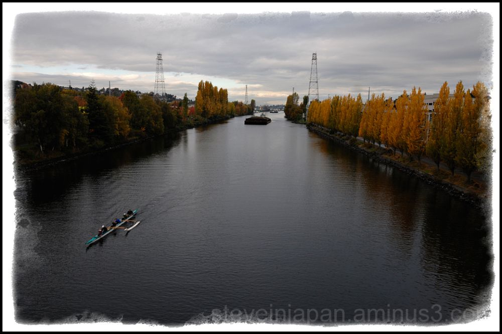 The Lake Washington Ship Canal in Seattle.