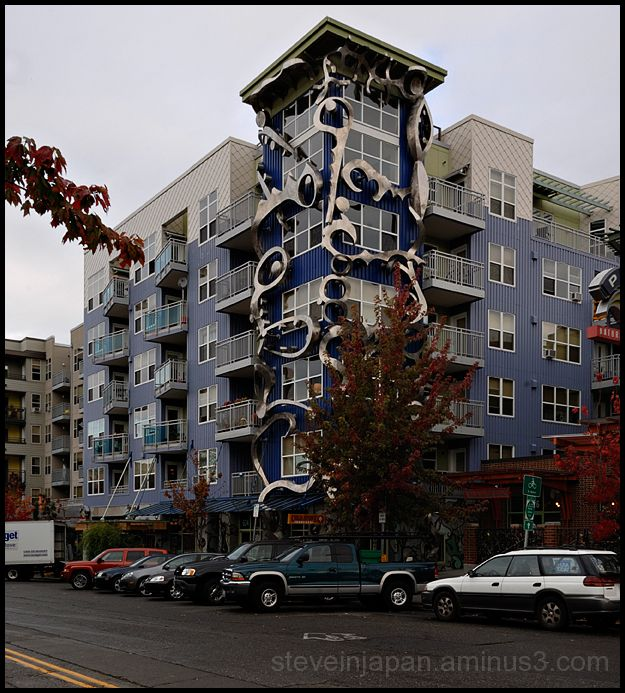 An apartment building in the Fremont District.