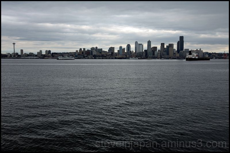 Downtown Seattle from Alki.