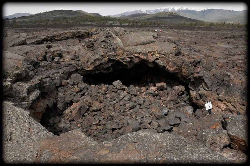 A lava cave at Craters of the Moon NM.