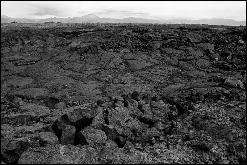 A sunken area at Craters of the Moon NM.
