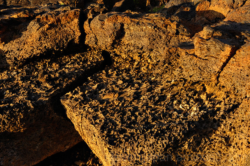 Lava textures at the Spatter Cones.
