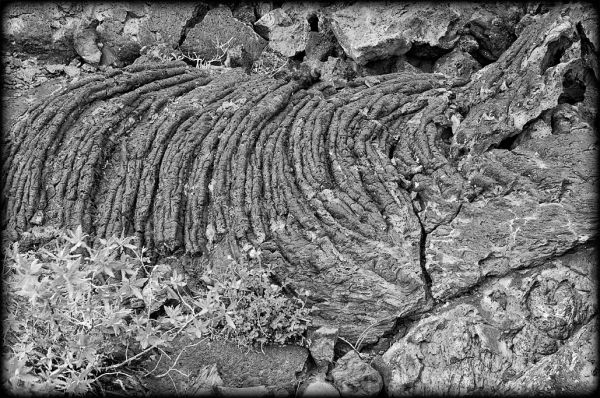 Pahoehoe lava at Craters of the Moon NM.