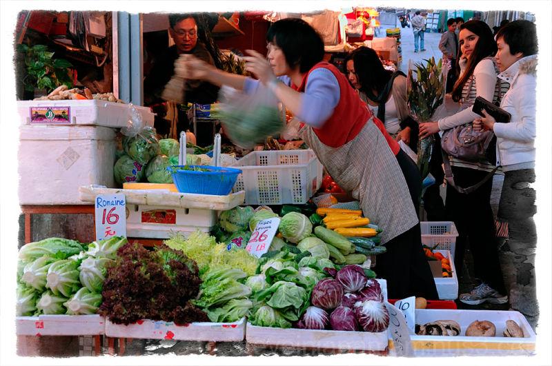 A vegetable seller in the Graham Street market.