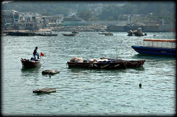 The harbor at Yung Shue Wan village on Lamma.