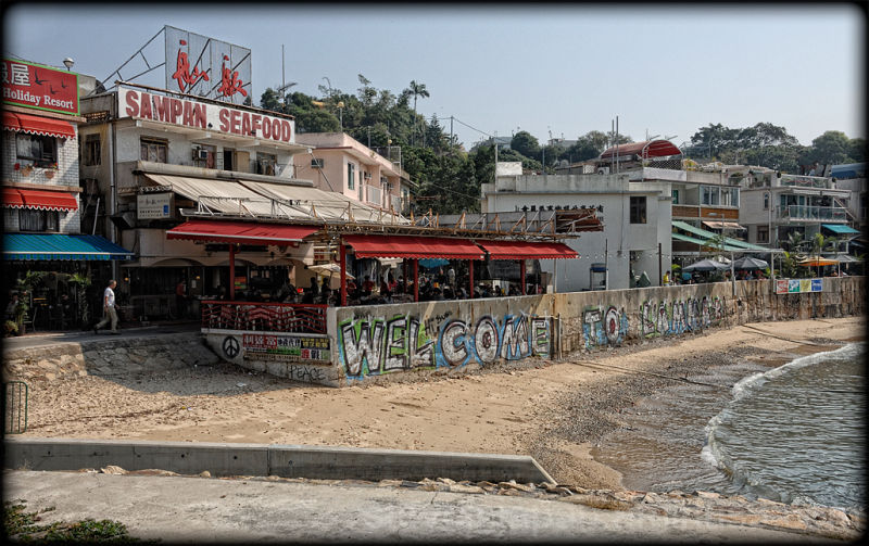 Yung Shue Wan village on Lamma.