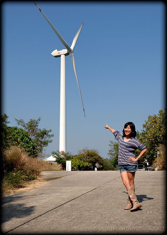 A wind generator on Lamma Island.