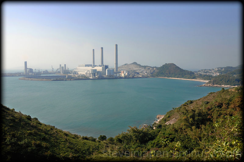 A coal fired power plant on Lamma Island.