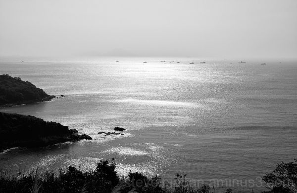 Ships anchored off Lamma Island.