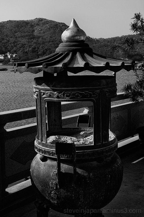 An incense burner in Sok Kwu Wan village.