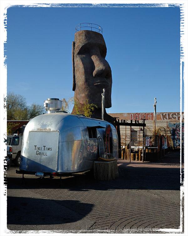 A giant tiki head in Tucson, AZ.