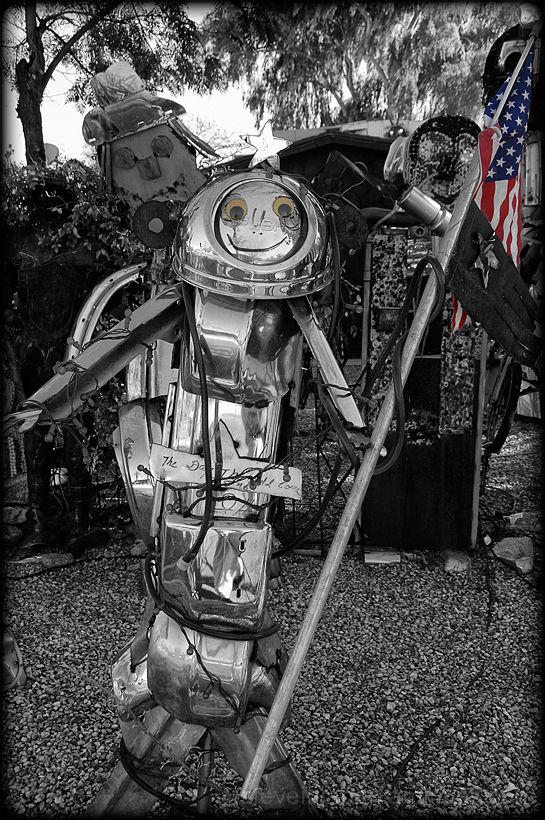 The Junk Sculpture Garden in Tucson, AZ.