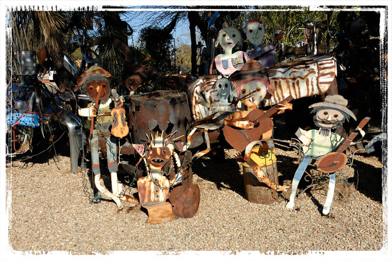 The Junk Sculpture Garden in Tucson, AZ.