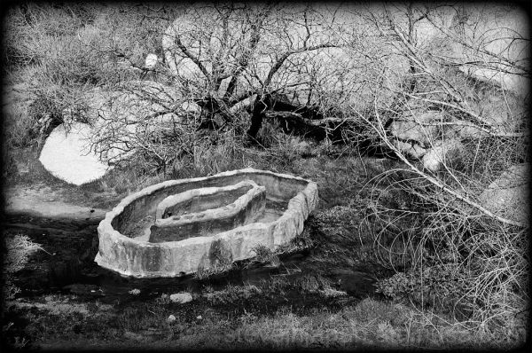 The Barker Dam cattle trough in Joshua Tree NP.