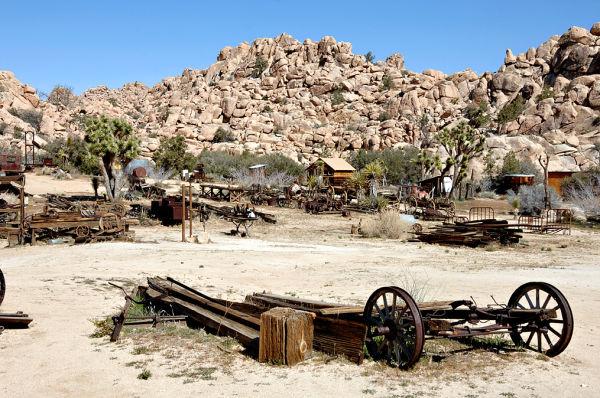 The Desert Queen Ranch in Joshua Tree NP.