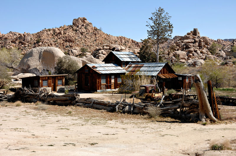 The Desert Queen Ranch in Joshua Tree NP.