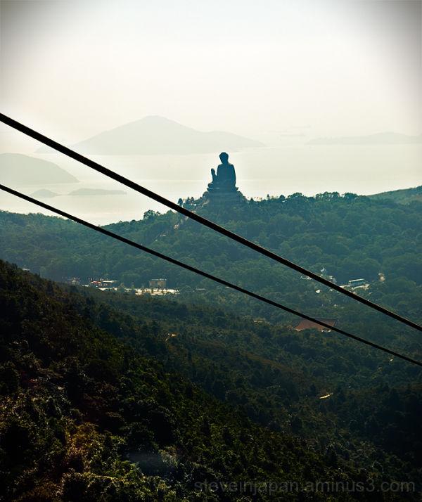 The Tian Tan Buddha at Po Lin Monastery.