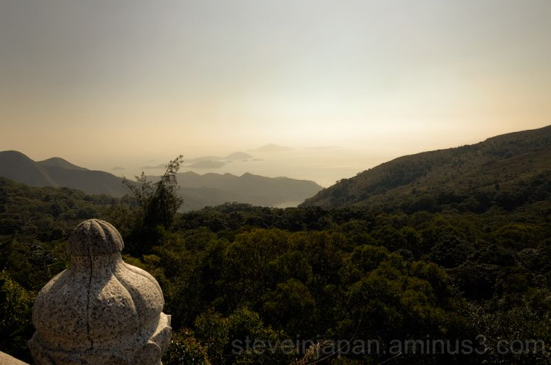 The view from the base of the giant Buddha.