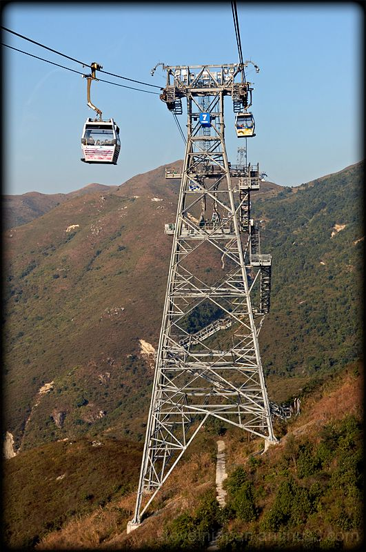 Tower 7 of the Ngong Ping 360 cable car.
