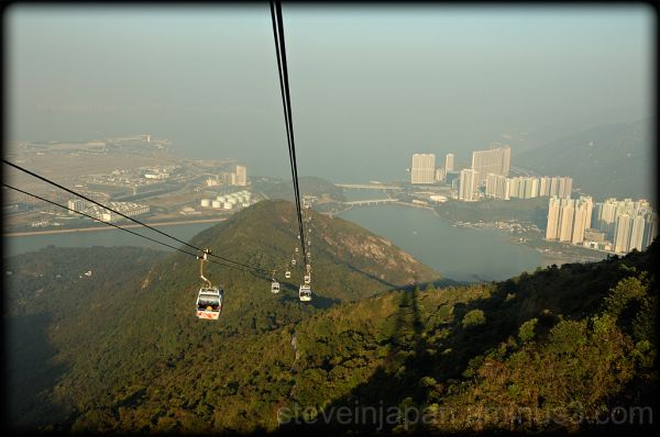 The return to Tung Chung on the Ngong Ping 360.