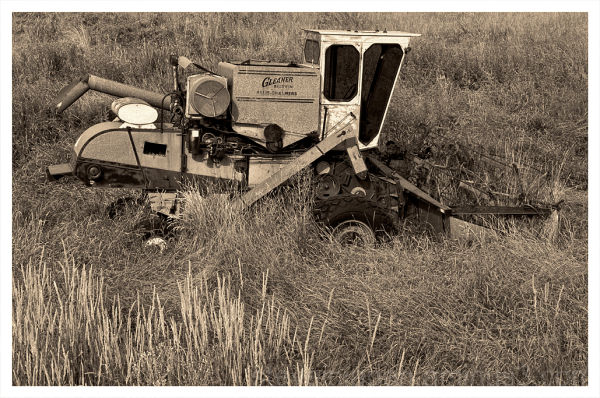 An abandoned combine in the Palouse.
