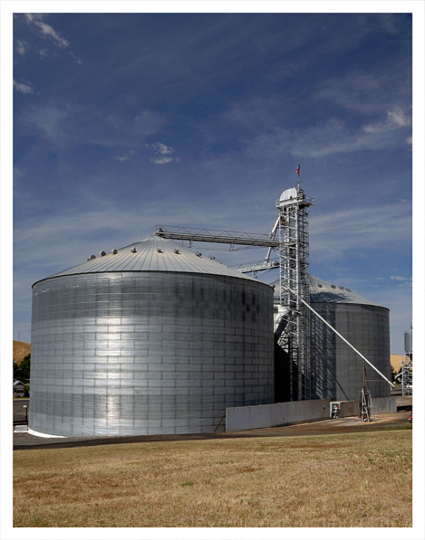 A large grain operation in Endicott, WA.