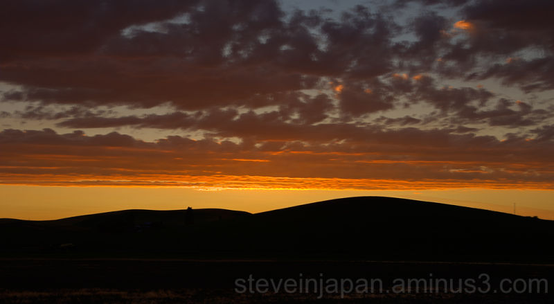 A sunset over the Palouse.