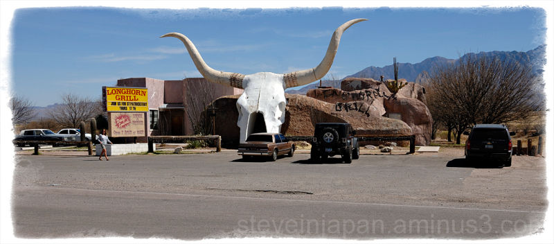 The Longhorn Grill in Amado, Arizona.