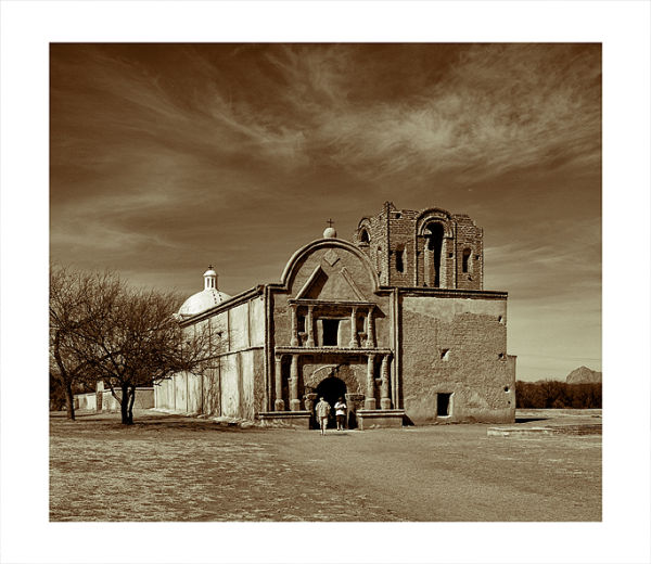 Mission San José de Tumacácori in Arizona, USA.