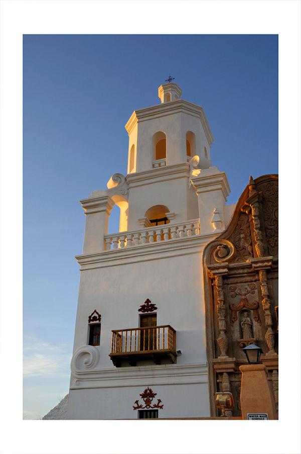Mission San Xavier del Bac in Tucson, AZ.