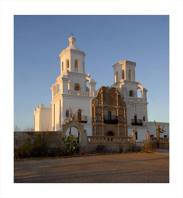 Mission San Xavier del Bac   Sunset