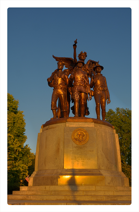 WWI memorial near the Capitol in Olympia, WA.
