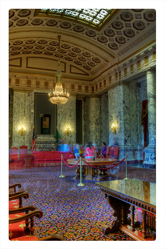 The reception room of the WA State Capitol.