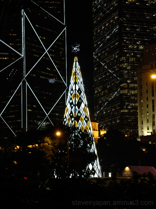 The Swarovski Crystal Christmas tree in Hong Kong.