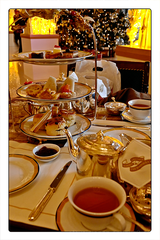 High tea at The Peninsula in Hong Kong.