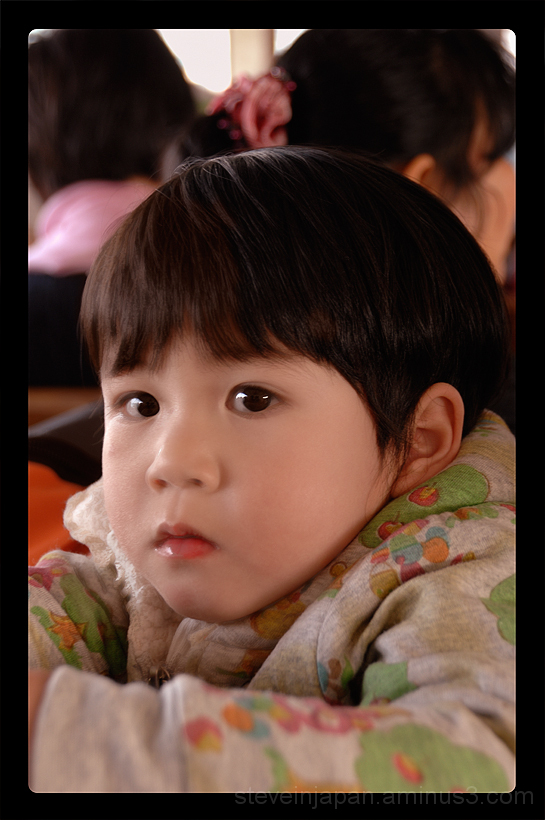 A cute girl on the Star Ferry in Hong Kong.