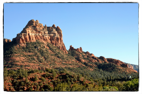 The view south from uptown Sedona, AZ.