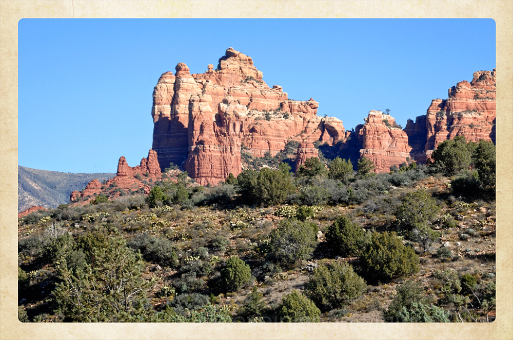 The backside of Snoopy Rock in Sedona, AZ.