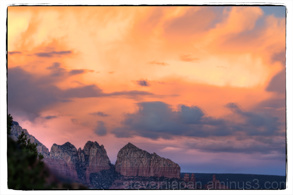 Sail Rock, at sunset, in Sedona, Arizona, USA.