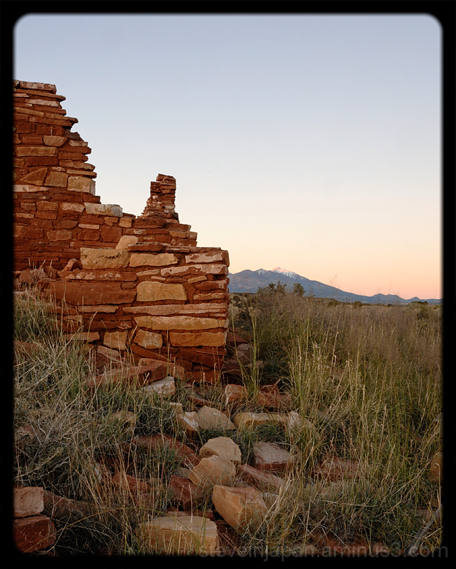 Sunrise at Wupatki National Monument.