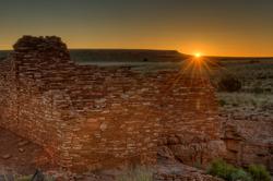 Sunrise at Lomaki Pueblo