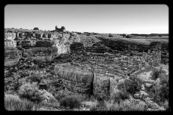 Box Canyon Dwelling in B&W